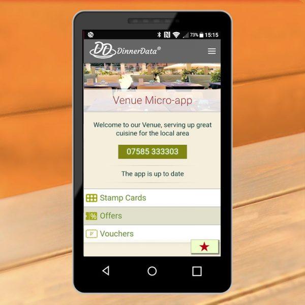 image of dinnerdata micro-app